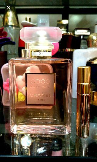 FREE POST. Chanel Mademoiselle for her in 5ml decant sample size Atomizer Bottle