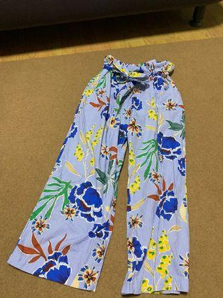 Zara Culottes Floral Pants