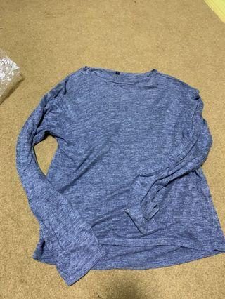 Authentic Muji Blue Pullover