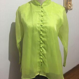 [TAILORMADE] - LIME ORGANZA TOP
