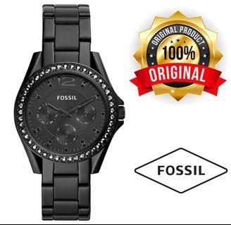Fossil Women's Riley Black Stainless Steel ES4519
