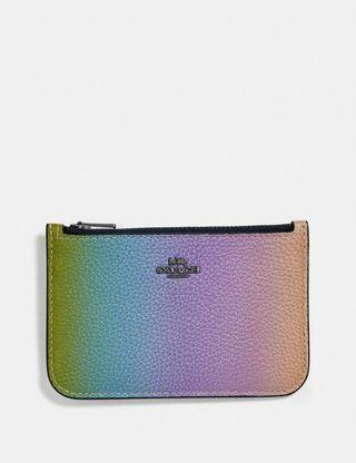 BNWT Authentic Coach Zip Card Case With Ombre