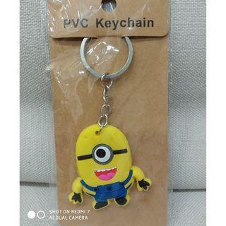 Minion keychain. yellow.