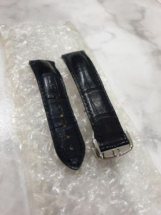 Omega real alligator strap and clasp