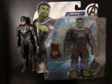 已開 Hasbro marvel hulk & captain