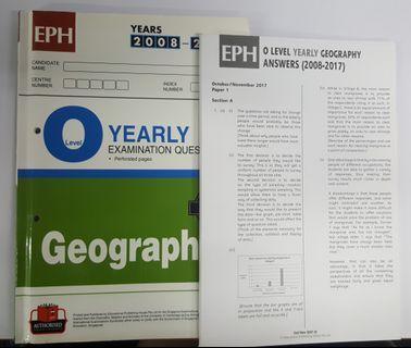 O Level Geog TYS (2008 - 2017)