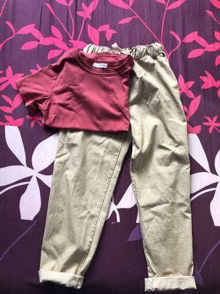 🚚 Pants + shirt