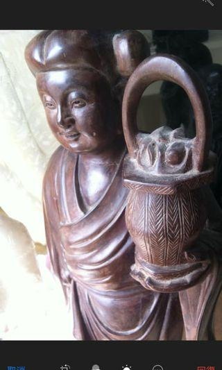 黃花梨木雕 近幾十年老古董(過兩尺高非重)