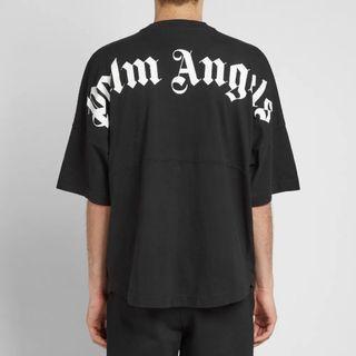 Palm Angels Mock Neck Tee - Black/White [XXS.XS.S]