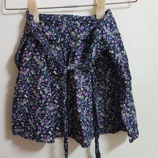 🚚 紫色碎花短裙