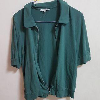 🚚 墨綠短袖外套