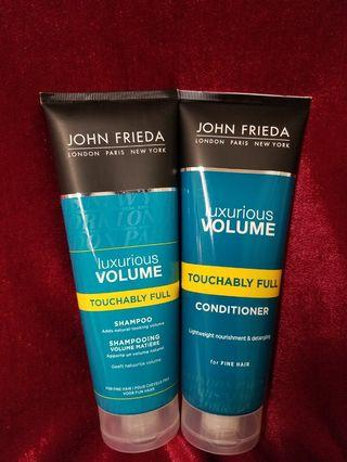John Frieda Luxurious Volume _ fine hair shampoo + conditioner brand New
