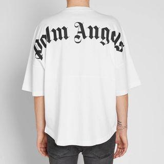 Palm Angels Mock Neck Tee - White/White [S]