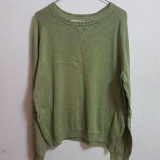 墨綠針織長袖