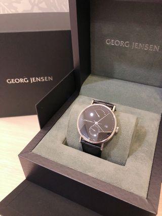 GEORG JENSEN 喬治傑生-KOPPEL系列兩地時區自動上鍊機械錶-黑-41mm