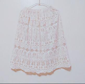 🚚 🇰🇷正韓氣質蕾絲裙 中 長裙