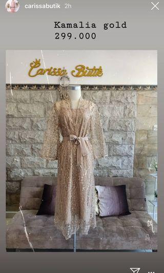 New with tag Carissa Butik Kamalia Gold XL