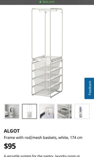 Ikea White clothes Rack