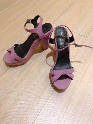 🚚 Amai 防水台高跟鞋芋頭紫