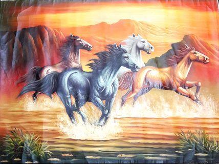 Stunning horses oil painting