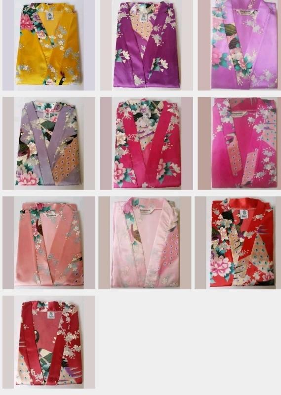 21 Colours Bride Bridesmaid Kimono Robe Wedding Woman Satin Silk