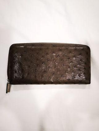 Ostrich long Zipper wallet