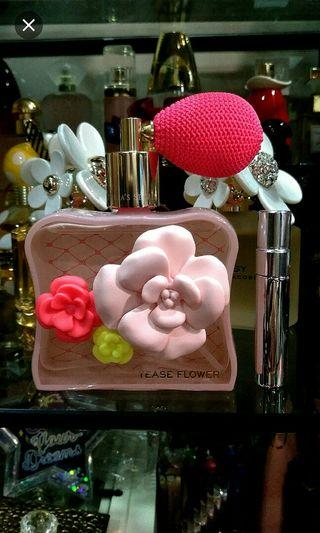 FREE POST. Victoria's Secret Tease Flower for her in 5ml decant sample size Atomizer Bottle