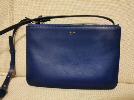Celine trio bag in Blue