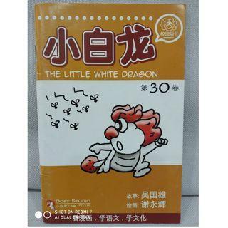 小白龙。 Chinese fiction comic. book. school. reading. little white dragon.