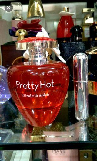 FREE POST. Elizabeth Arden Pretty Hot for her in 5ml decant sample size Atomizer Bottle