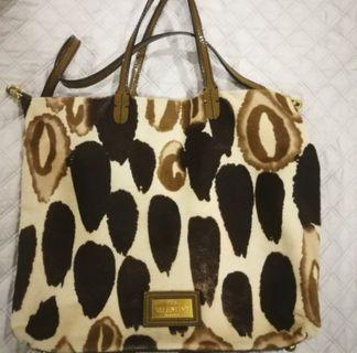 Valentino ponyfur shoulder tote bag