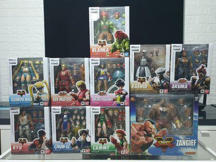 SHFiguarts/Storm Collectibles Streetfighter set of 10
