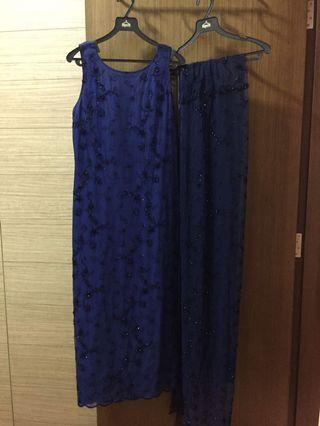 Blue Lace Simona Gown with matching wrap
