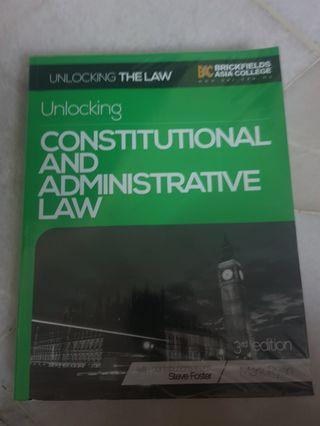Unlocking Constitutional & Administrative Law Textbook @ Public Law (Mark Ryan)