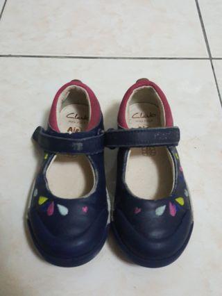 Clark Mini Folk Air Spring Blue Shoes