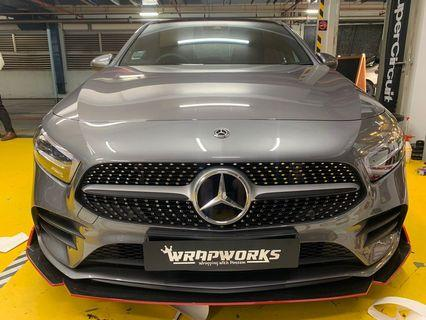 Mercedes Benz A200 Universal front lip with installation!