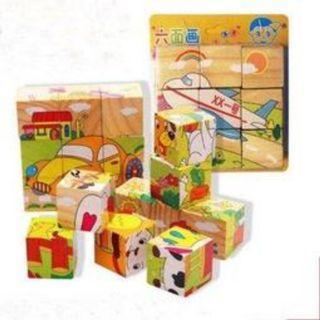 現貨🍒兒童益智玩具 🍒木質立體9粒6面拼圖益智早教玩具積木