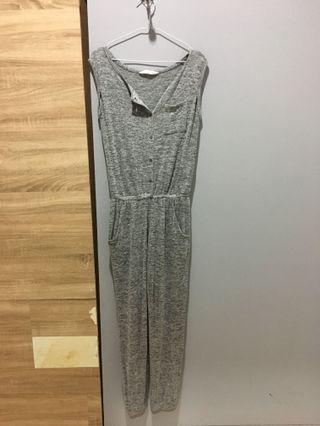 Grey Jumpsuit H&M #maugopay