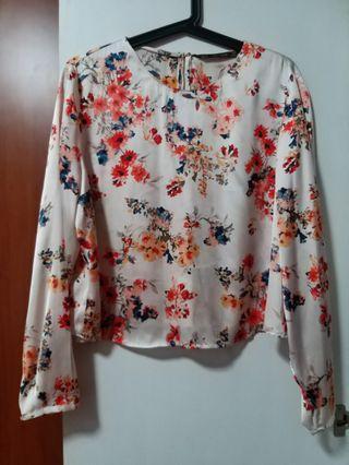 Zara BN Floral Blouse