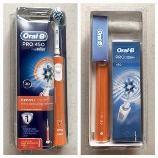 BN Braun Oral B Pro 450 CrossAction Rechargeable Electric Toothbrush