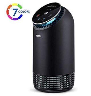 🚚 Partu Air Purifier HEPA Filter with Activated Carbon Air Cleaner for Home and Office, Removes 99.97% Allergies, Smoke, Dust, Pollen, Pet Dander, Odor, Germs, Mold, No Ozone