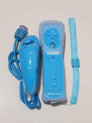 🚚 2 in 1 Motion Plus Controller with Nunchuk for Nintendo Wii