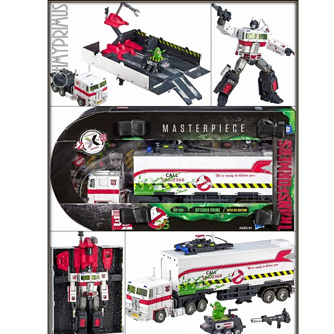 TRANSFORMERS HASBRO TOY MP-10G GHOSTBUSTERS OPTIMUS PRIME ECTO-35 SDCC NO BOX
