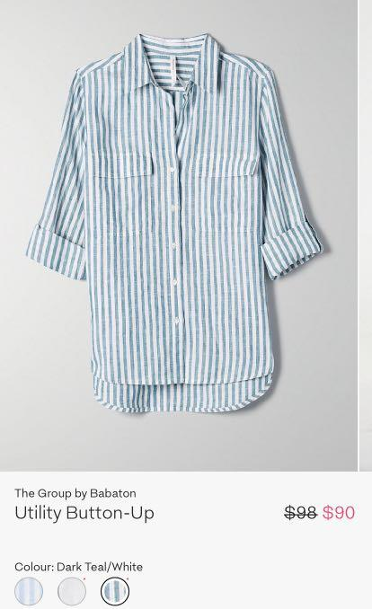 Aritzia Group by Babaton Utility Button Up (linen)