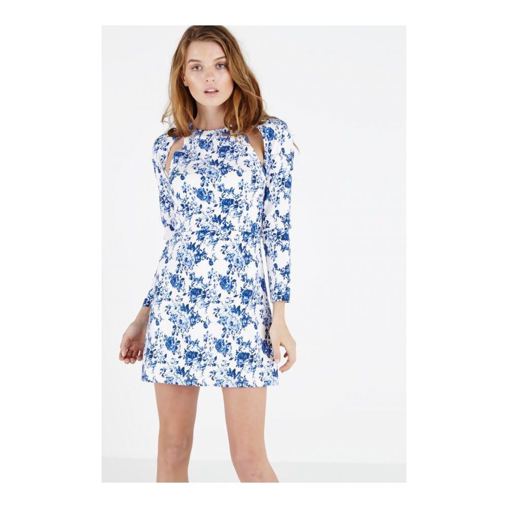 Authentic Lavish Alice Floral White & Blue Dress