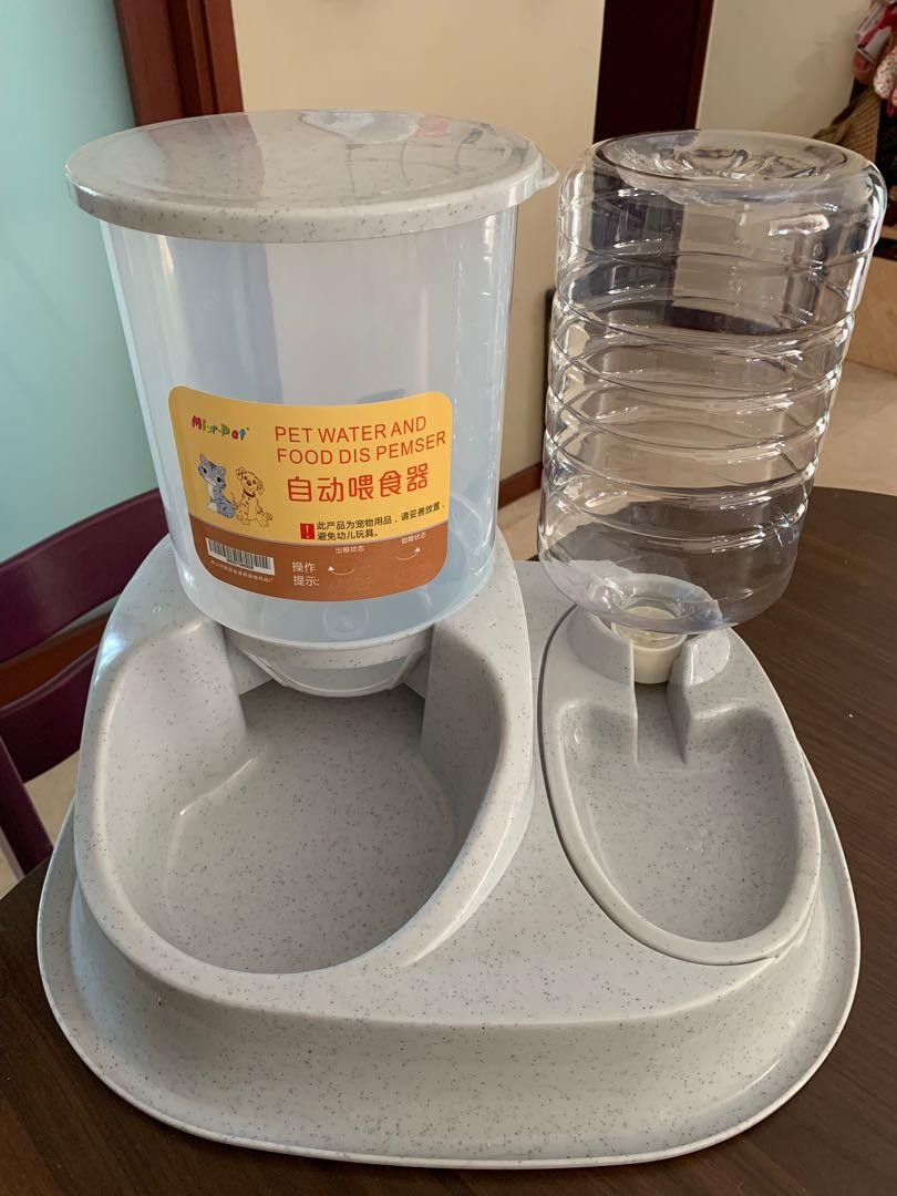 Automatic Cat Dog Food And Water Dispenser Pet Supplies For Cats Cat Food On Carousell