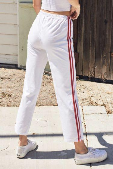 Brandy Melville sweats/joggers/sweatpants white & red!!