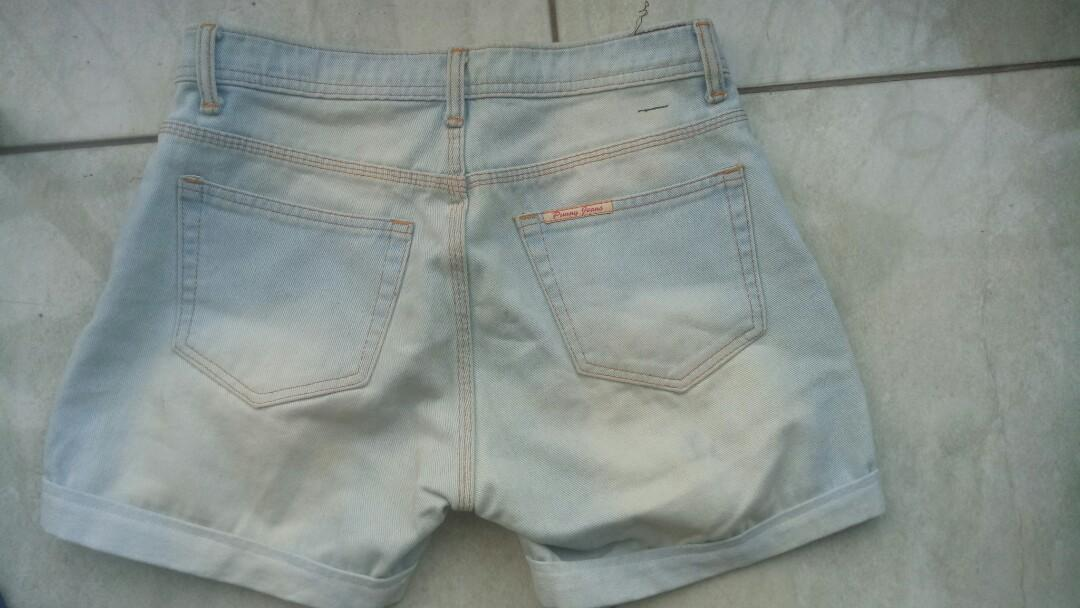 Celana pendek hotpants light denim jeans