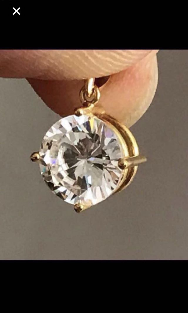 ff07e486ac096 CLEARANCE SALES {Women's Fashion - Pendant} Beautiful Sparkling 2.7 Carats  Round Cut Man Made Diamond/Gemstone Come With Solid 20K/850 Gold Clasp ...