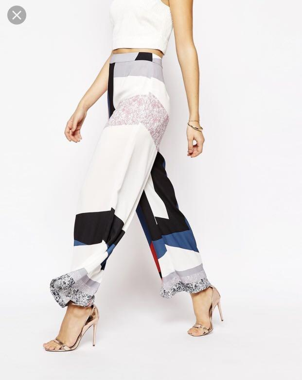 C/MEO Collective / Nordstrom 'walk alone' wide leg pants - Size 4 - NWOT